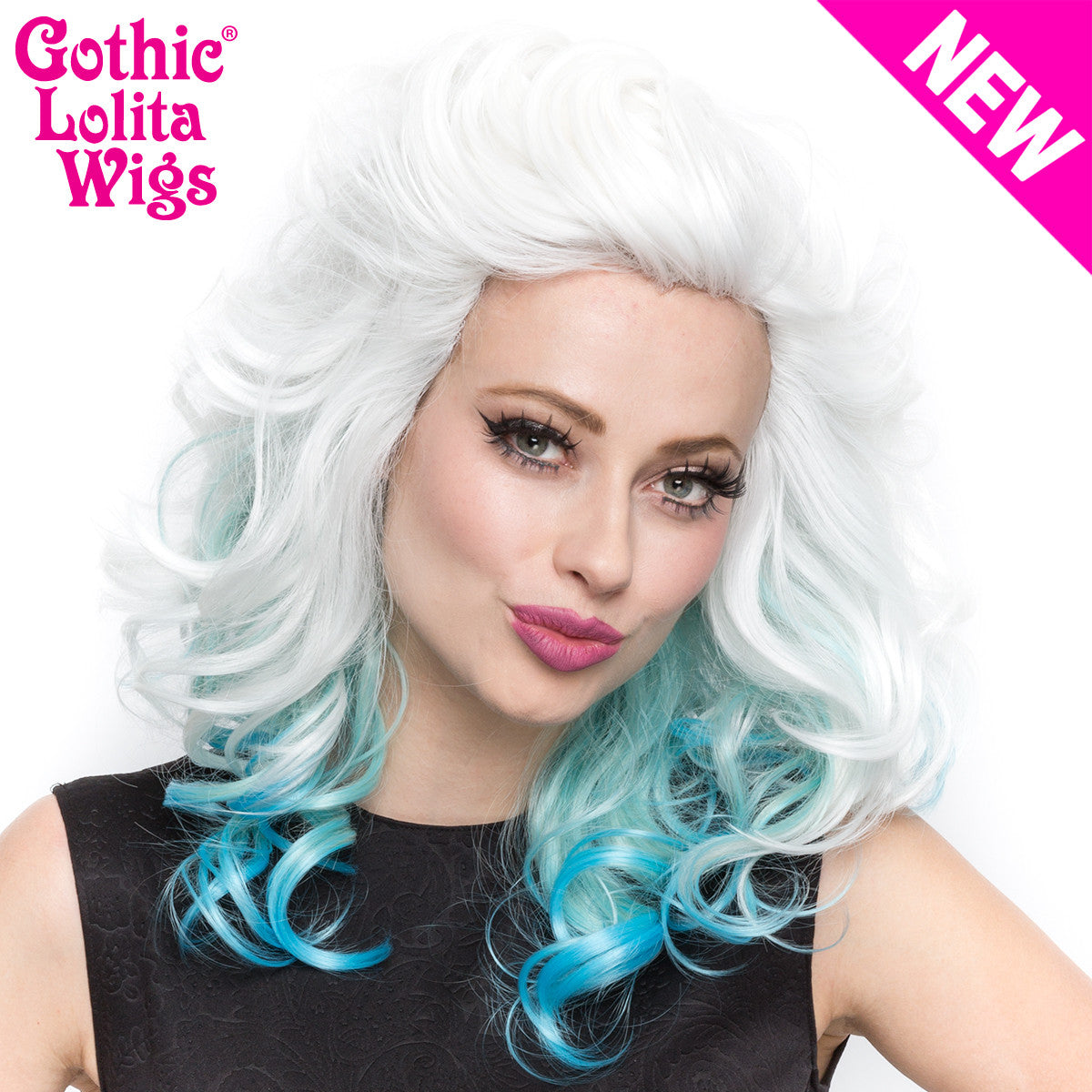Lace Front Merilyn- White To Blue -00024