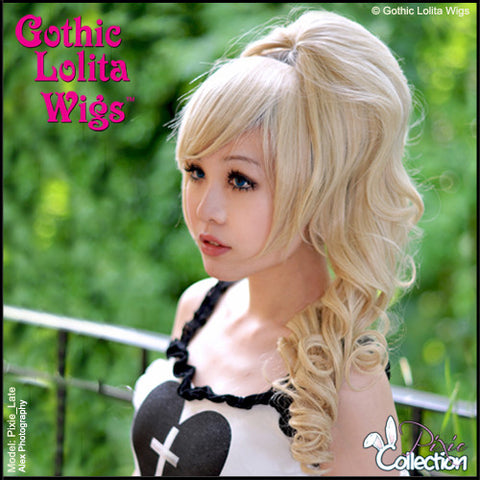 Gothic Lolita Wigs® <br> Pixie™ Collection - Ponytail 1 (Blonde Mix)- 00084