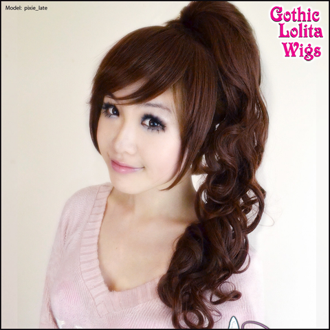 Gothic Lolita Wigs® <br> Pixie™ Collection - Ponytail 1 (Dark Brown) -00086