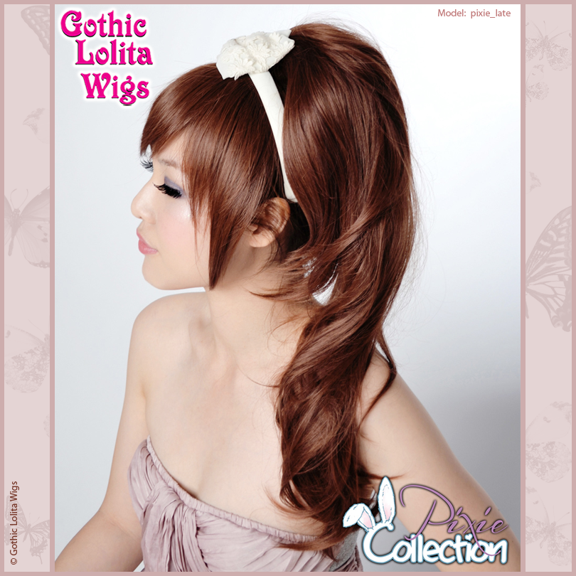 Gothic Lolita Wigs® <br> Pixie™ Collection - Ponytail 2 (Dark Brown) -00091