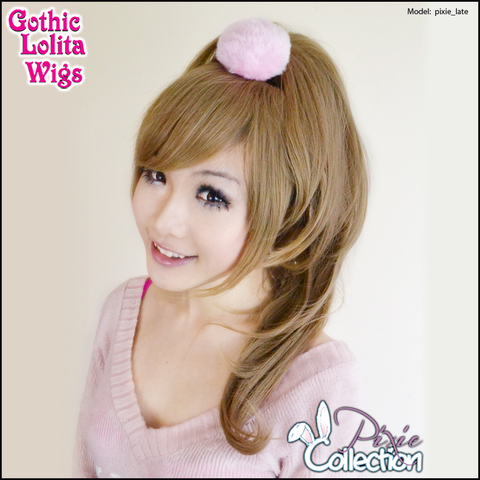 Gothic Lolita Wigs® <br> Pixie™ Collection - Ponytail 2 (Milk Tea) -00092