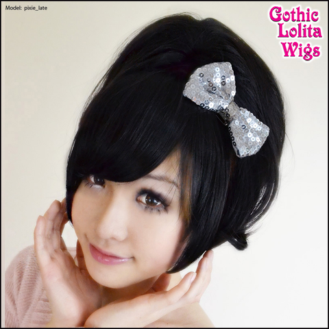 Gothic Lolita Wigs® <br> Pixie™ Collection - Ponytail 3 (Black) -00093