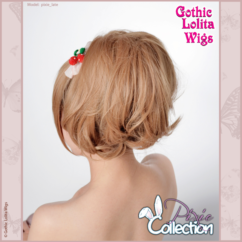 Gothic Lolita Wigs® <br> Pixie™ Collection - Ponytail 3 (Milk Tea) -00096