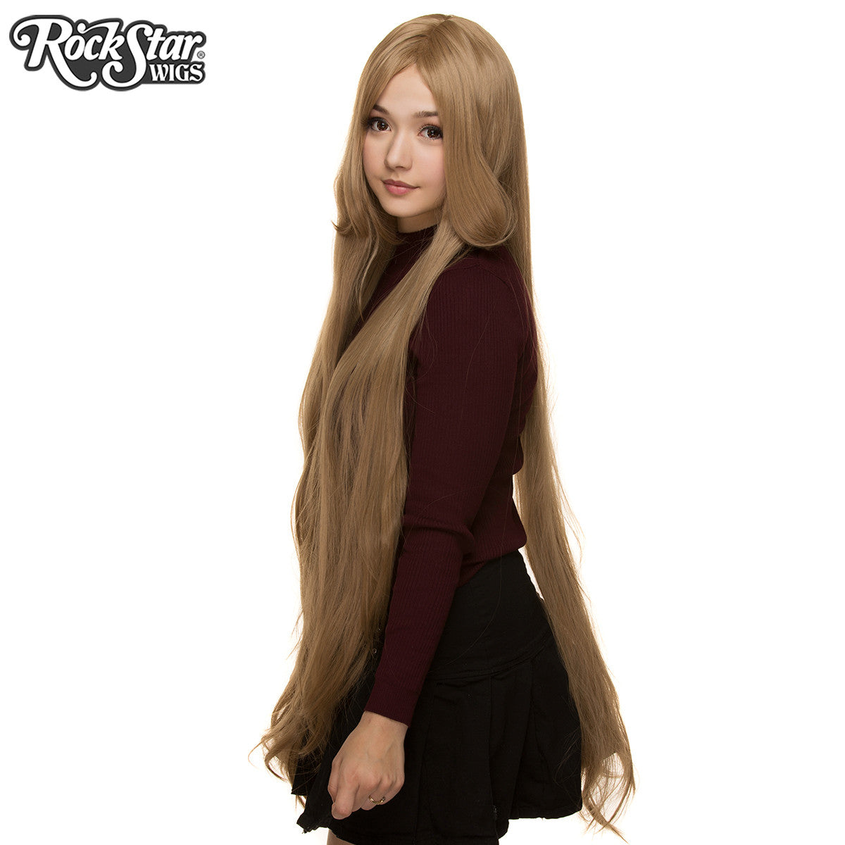 "Cosplay Wigs USA™ <br> Straight 120cm/47"" - Milk Tea Mix -00242"