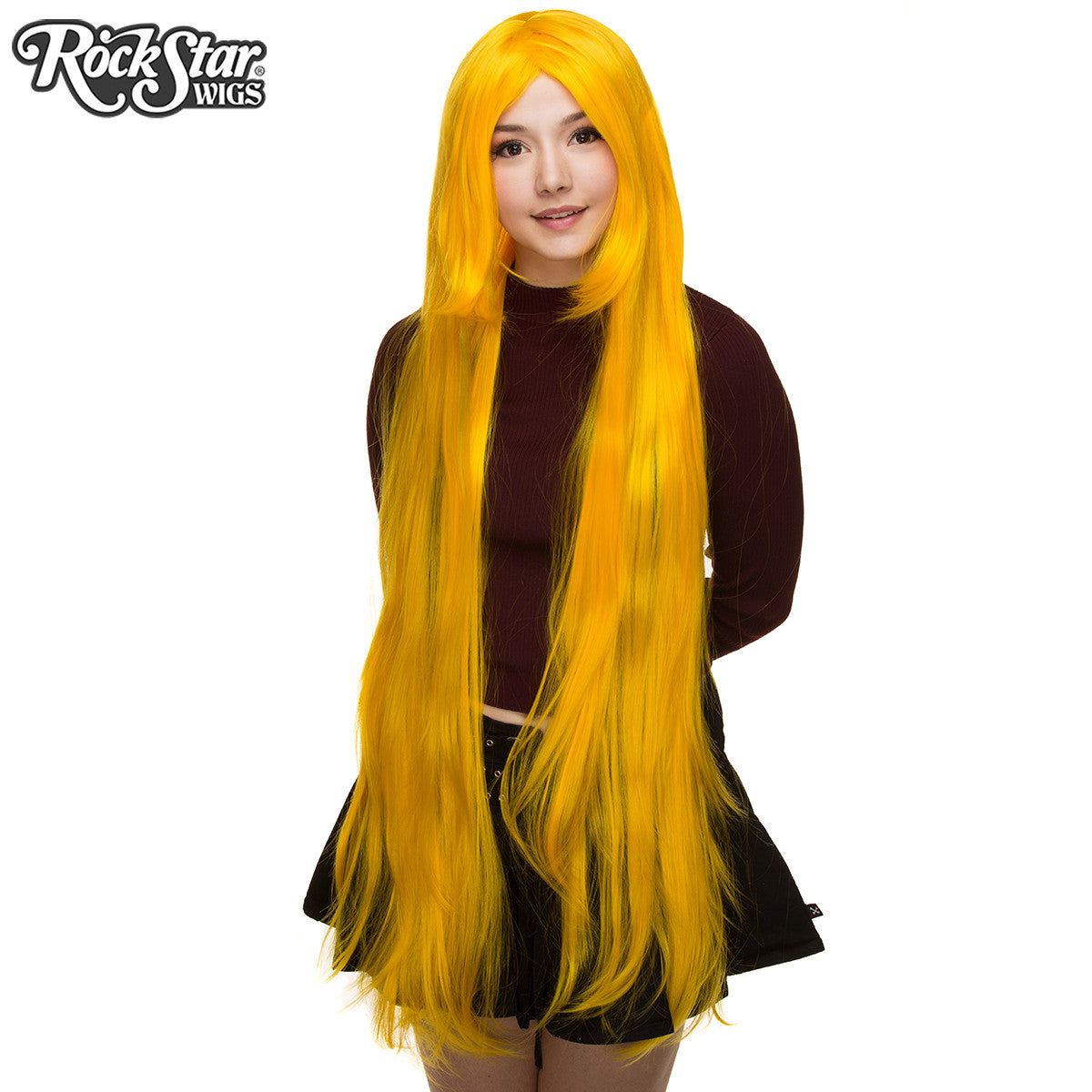 "Cosplay Wigs USA™ <br> Straight 120cm/47"" - Yellow -00461"