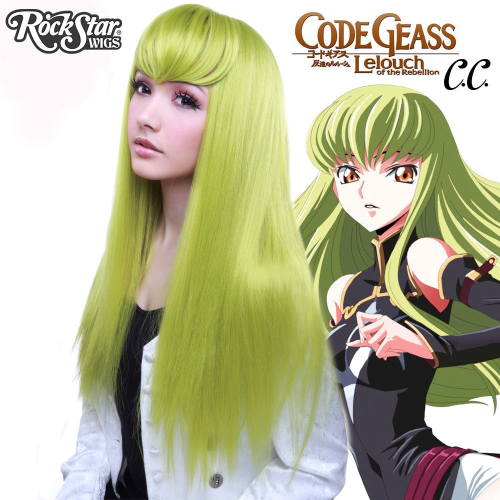 COSPLAY WIGS USA CHARACTER C.C.FROM CODE GEASS- LIME GREEN (CHARTREUSE)