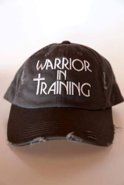 Warrior In Training Distressed Hat