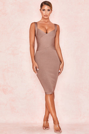Open image in slideshow, nude bandage dress