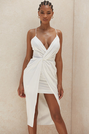 Open image in slideshow, open back plunge dress