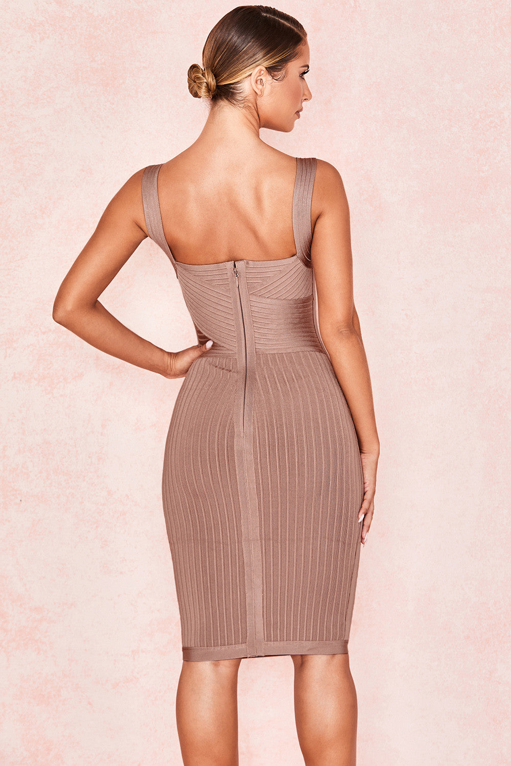 ribbed bandage dress