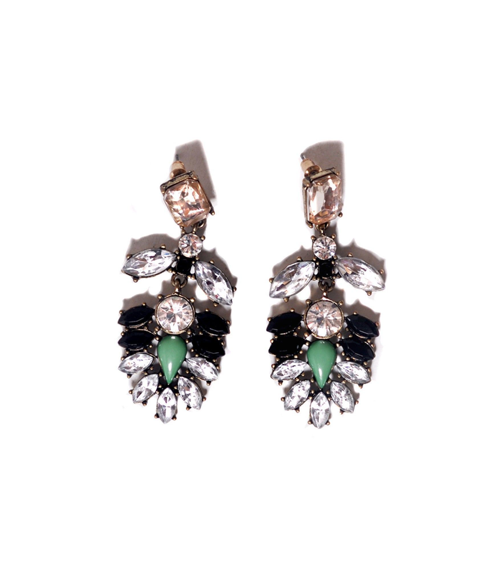 Emerald drop earrings - Stopshop London - 1