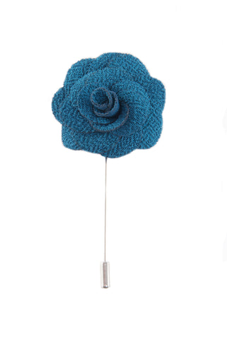Flower lapel pin - Aqua blue - Stopshop London