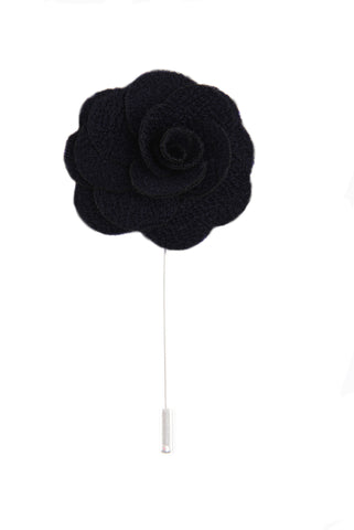 Flower lapel pin - Black - Stopshop London