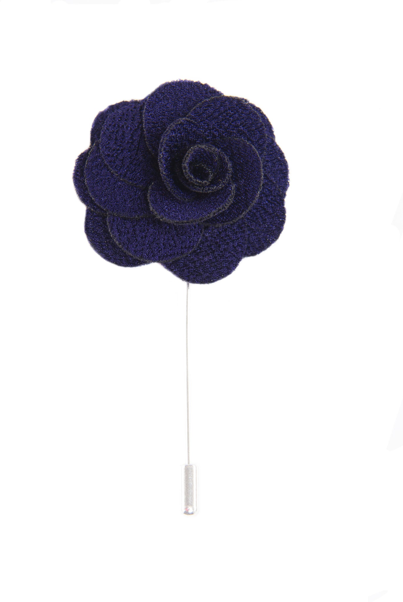 Flower lapel pin - Dark Eggplant - Stopshop London