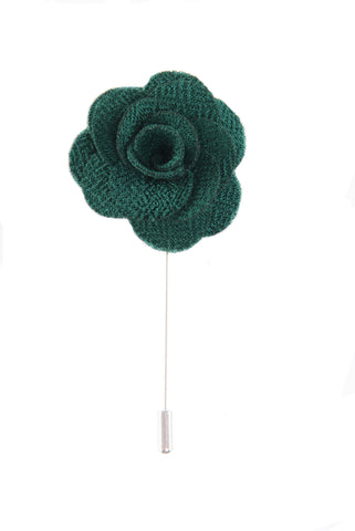 Flower lapel pin - Green - Stopshop London