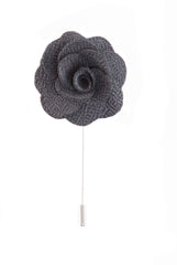 Flower lapel pin - Grey - Stopshop London
