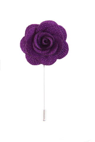 Flower lapel pin - Magenta Purple - Stopshop London