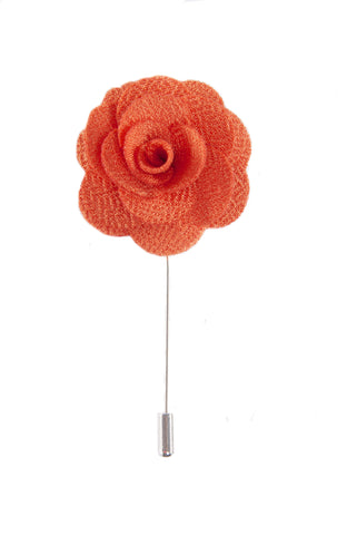 Flower lapel pin - Orange - Stopshop London