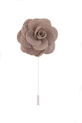 Flower lapel pin - Stone - Stopshop London