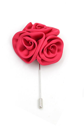 Flower lapel pin - Salmon
