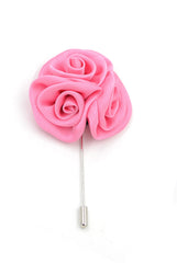 Silk Boutonniere Lapel Pin - Carnation Pink - Stopshop London