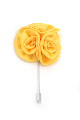 Flower lapel pin - Orange