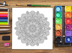 Namaste: Stress Relieving Mandalas & Patterns: Anti-stress Colouring Book for Adults & Teens