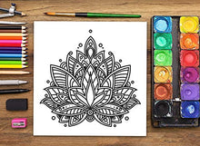 Load image into Gallery viewer, Namaste: Stress Relieving Mandalas & Patterns: Anti-stress Colouring Book for Adults & Teens
