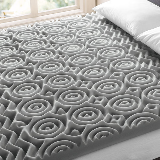 "3"" 5-Zone Memory Foam Topper with Bamboo Charcoal Infusion - bpmatt"