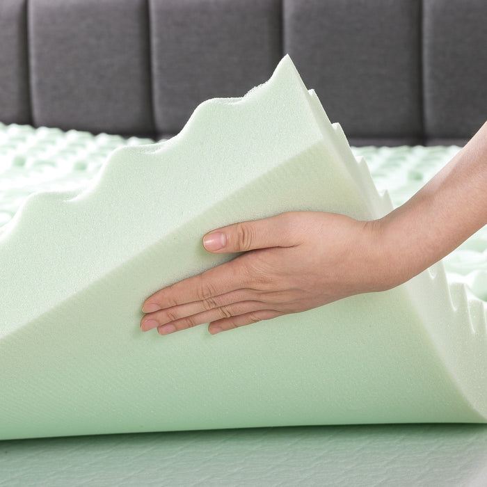 "4"" 5-Zone Memory Foam Topper with Infusion - bpmatt"