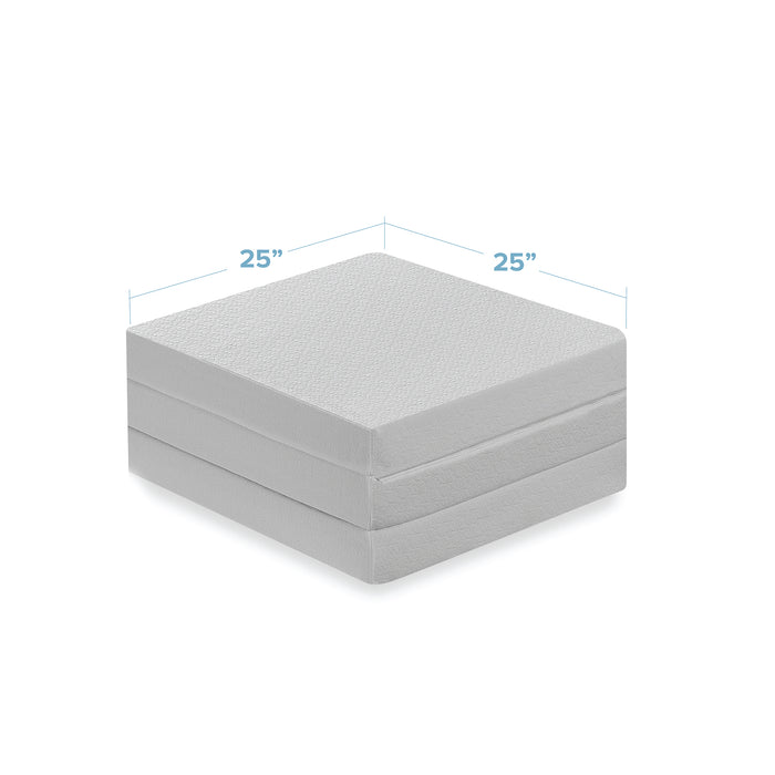"4"" Trifold Memory Foam Topper with Cover"