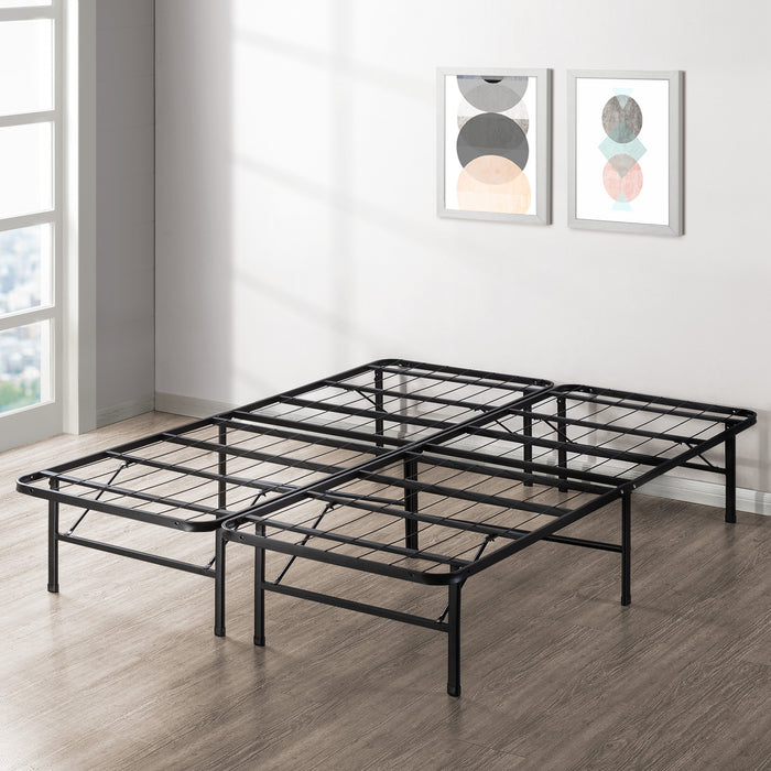 "14"" Quickbase Metal Platform Bed with Steel Slats - bpmatt"