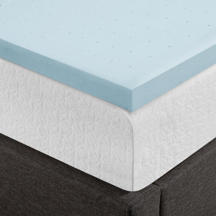 "1.5""-4"" Cooling Gel Ventilated Memory Foam Topper - bpmatt"