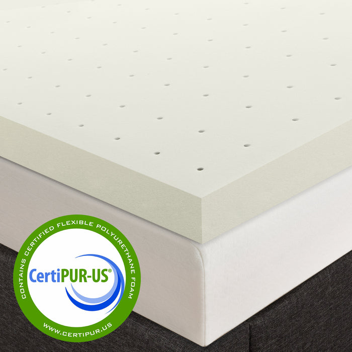 "2.5"" Memory Foam Topper with Ventilated Cooling - bpmatt"