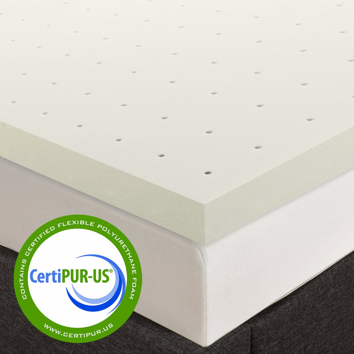 "2"" Memory Foam Topper with Herbal Infusion - bpmatt"