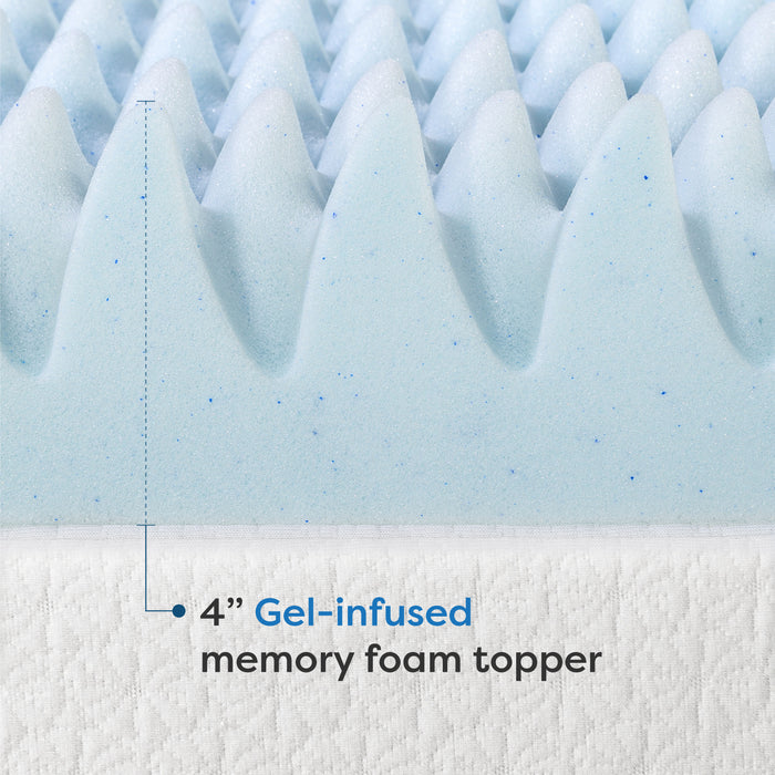 "4"" Egg Crate Memory Foam Topper with Infusion - bpmatt"