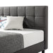 "13"" Zoe Upholstered Platform Bed with Tufted Headboard and Wooden Slats - bpmatt"