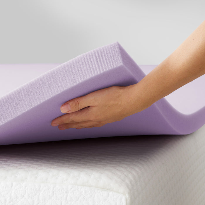 "1.5"" Memory Foam Topper with Herbal Infusion - bpmatt"