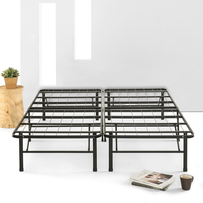 "14"" Simplybase Metal Platform Bed with Steel Slats - bpmatt"