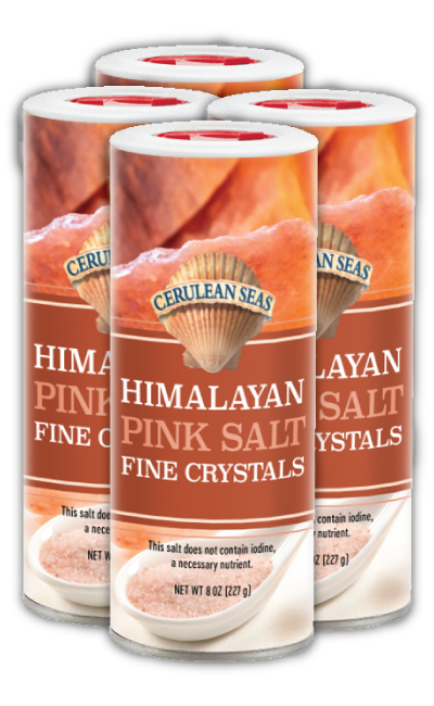 Cerulean Seas Pink Himalayan Salt-Fine (8 oz.) (Pack of 4 or 12)