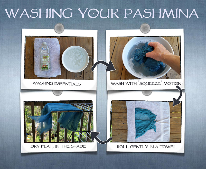 Washing your Pashmina, Pashmina Care, Pashmina Washing Instructions