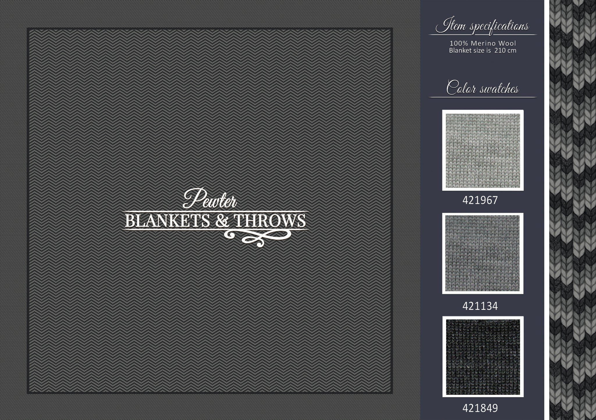 Pewter - Blankets & Throws