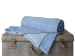 Merino Wool Blanket, Shades of Blue