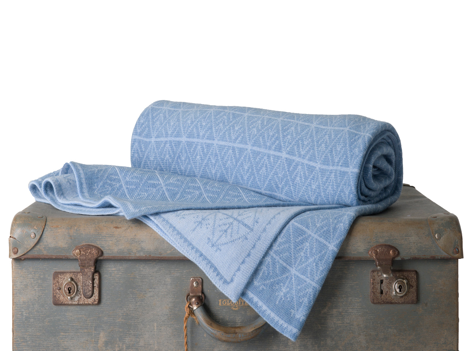 Shades of Blue Snowflake - Blankets & Throws