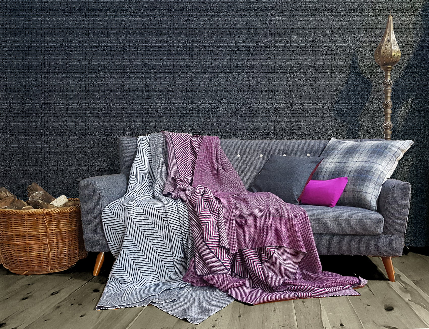 Walls & Hills Sample - Blankets & Throws