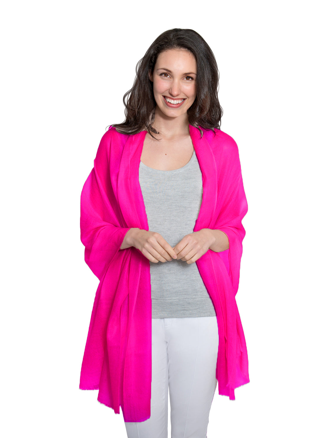 Cashmere Pashmina - Hot Pink - Blankets & Throws