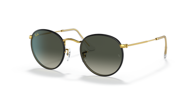 Rayban Round Metal Full Color Legend Black and Gold Frame with Classic Black Lens (RB 3447JM) - Shop Escape Outdoors
