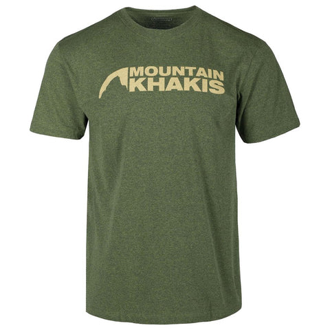 Mountain Khaki Logo T-Shirt (Marsh/Amber)
