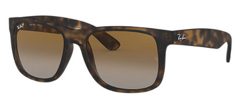 Rayban Justin Classic Tortoise Frame with Brown Gradient Lenses (RB 4165) POLARIZED - Shop Escape Outdoors