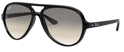 Rayban Cats 5000 Black Frame with Light Grey Lenses (RB 4125) - Shop Escape Outdoors